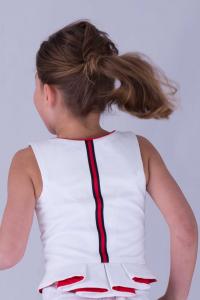 Tegernseer Spenzer für Kinder in rot-weiß-blau.